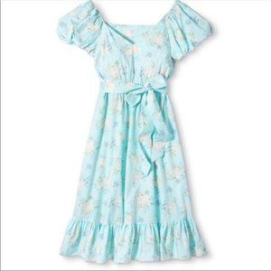 LoveShackFancy Dress Floral Puffy Sleeve
